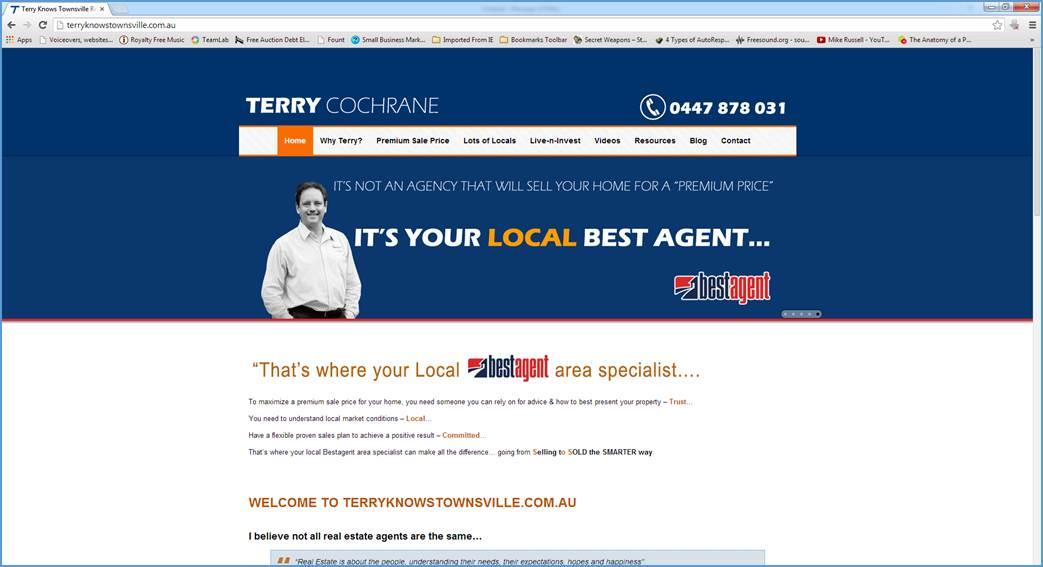 Website Design Terry Knows Townsville